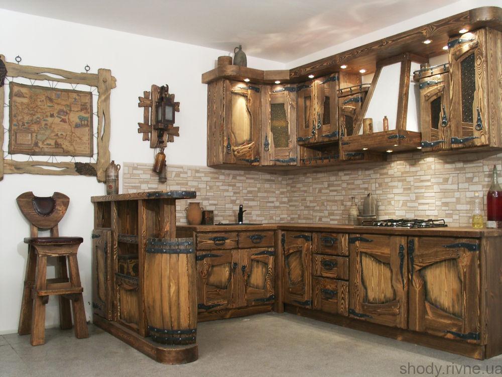 Деревяна Кухня під старовину