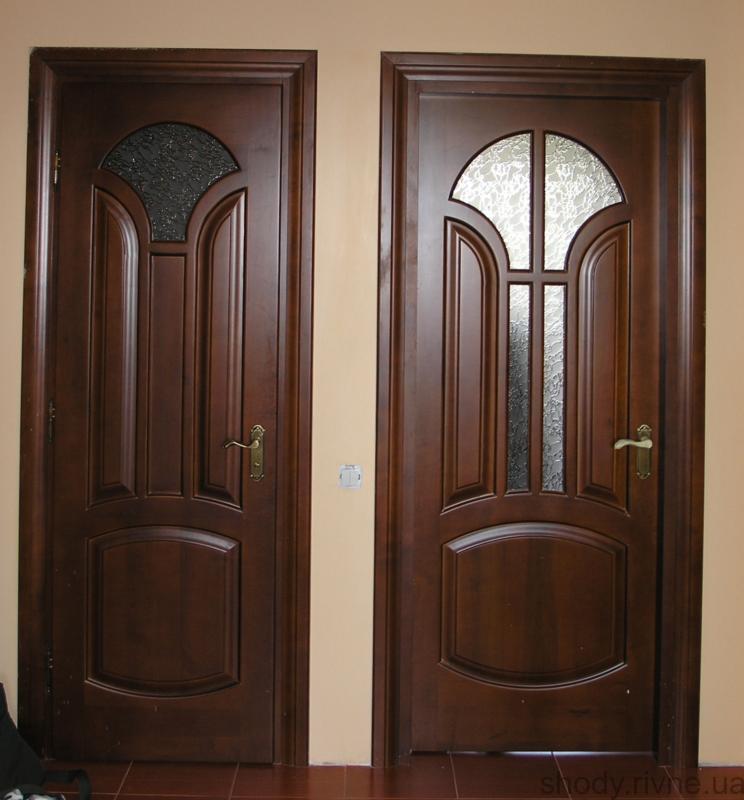 деревяні двері з ясена та дубаціни на дверізамовити двері