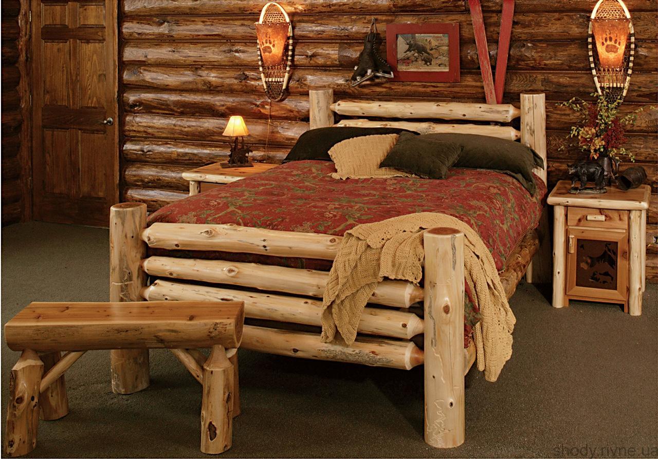 ліжко деревяне для дачі
