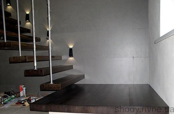 сходи деревяні консольні